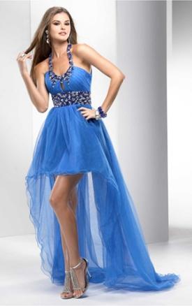 2016 crystal layers sash halter asymmetrical formal dresses cheap