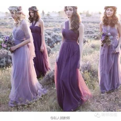 different colors of purple bridesmaid dresses