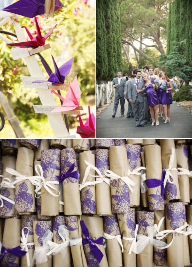 wedding  with purple element